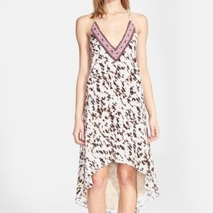 Haute Hippie Embellished Animal Print Silk Dress